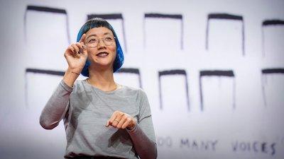 TED talk with Christine Sun Kim